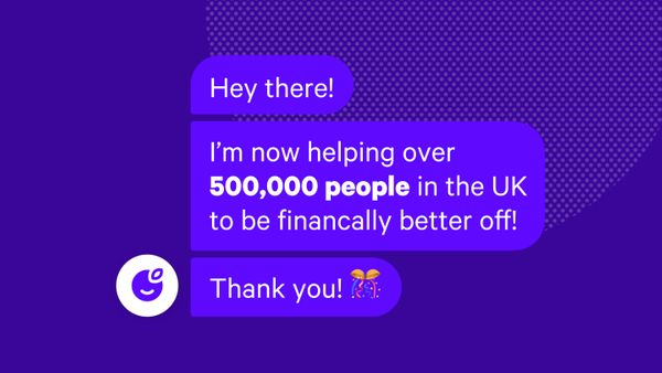 We're now helping over 500,000 people in the UK 🎉